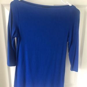 Royal blue boatneck top